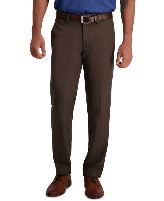 Haggar - Men's Cool 18 Pro Classic-Fit 4-Way Stretch Moisture-Wicking Non-Iron Dress Pants