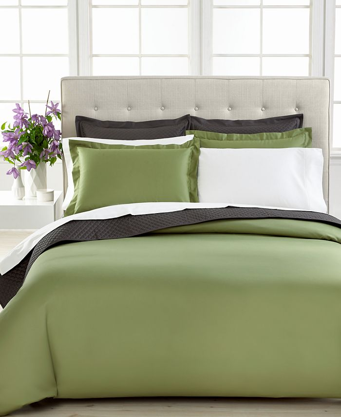 Charter Club - Damask Solid 500 Thread Count Full/Queen Duvet Cover