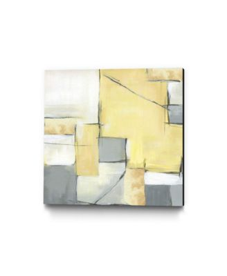 "30"" x 30"" Golden Abstract II Museum Mounted Canvas Print"