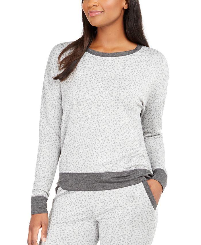 Alfani - Animal-Print Pajama Top