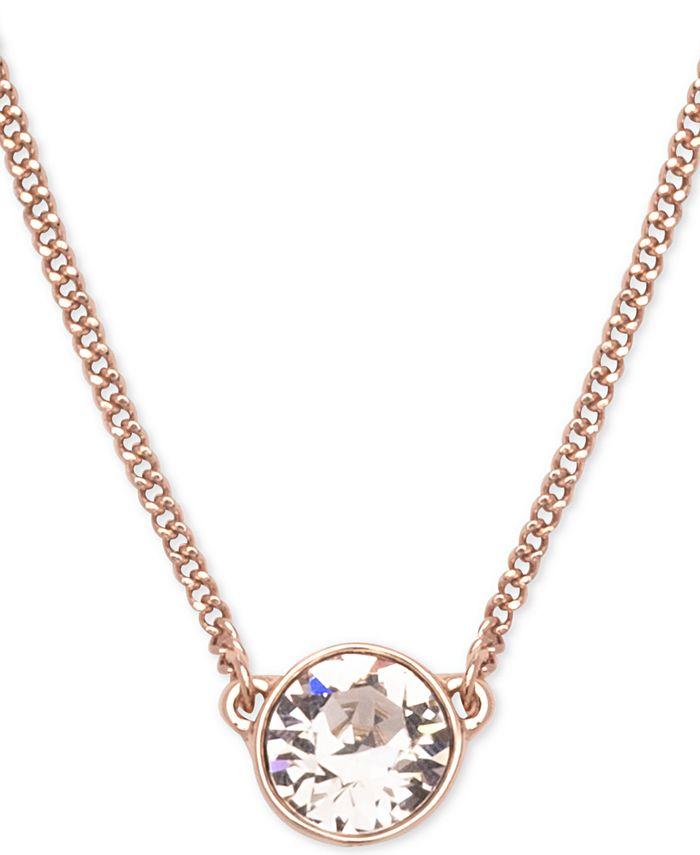 """Givenchy - Swarovski Pendant Necklace, 16"""" + 2"""" Extender"""