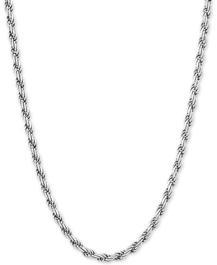 """Giani Bernini - Rope Link 22"""" Chain Necklace in Sterling Silver"""