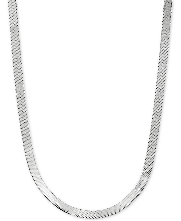 "Giani Bernini - Herringbone Link 20"" Chain Necklace in Sterling Silver"
