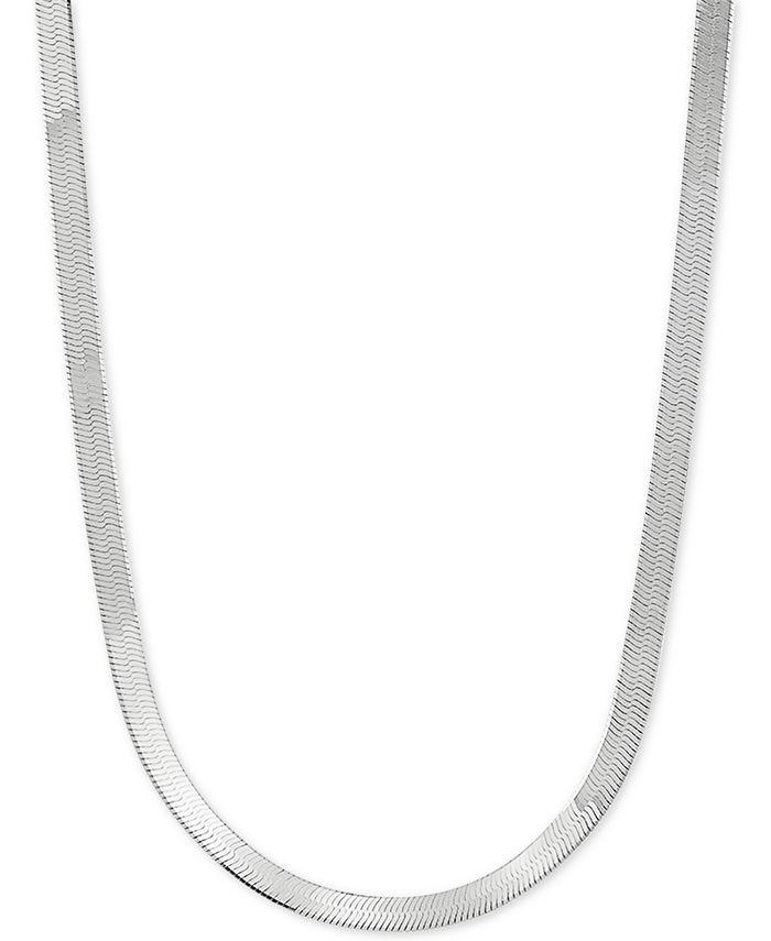 "Giani Bernini - Herringbone Link 18"" Chain Necklace in Sterling Silver"