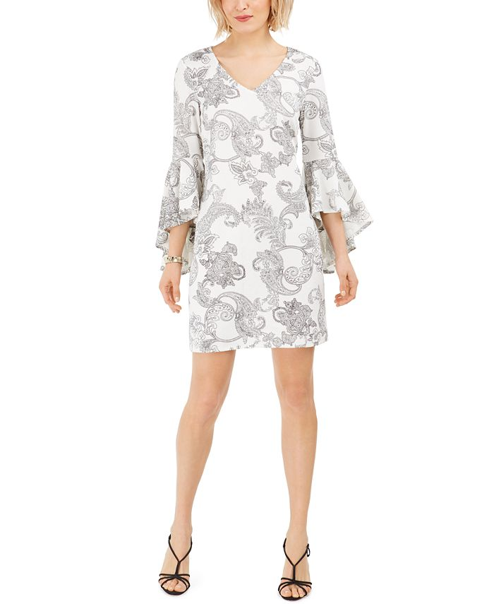 MSK - Petite Bell-Sleeve Sheath Dress
