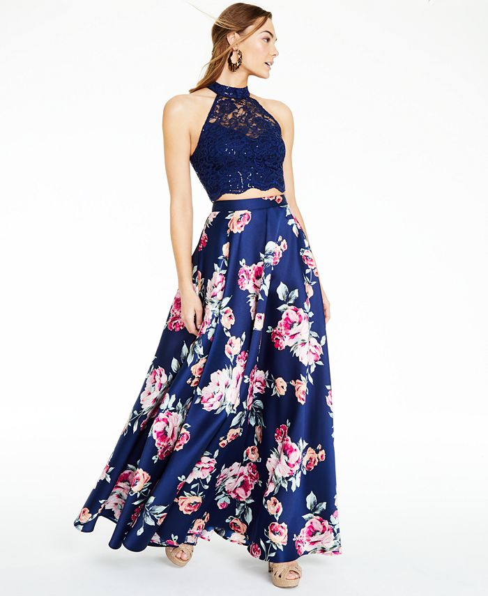 City Studios - Juniors' Embellished 2-Pc. Gown