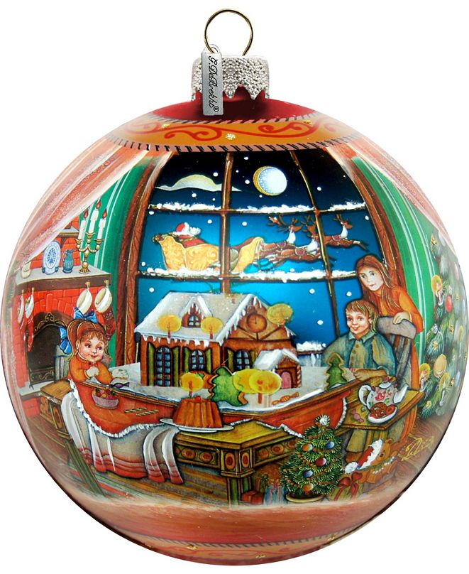 G.DeBrekht Limited Edition Oversized Christmas Arrival Up Up and Away Glass Ornament