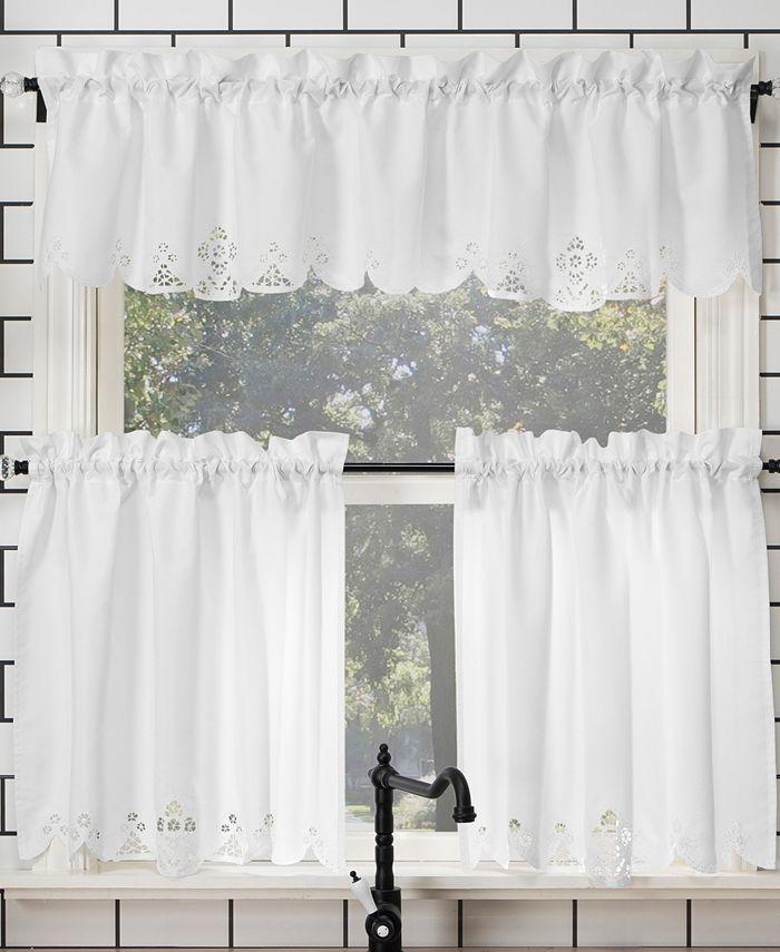 No 918 Mariela 58 X 36 Battenburg Lace Trim Valance And Tiers Set Reviews Curtains Drapes Window Treatments Blinds Macy S