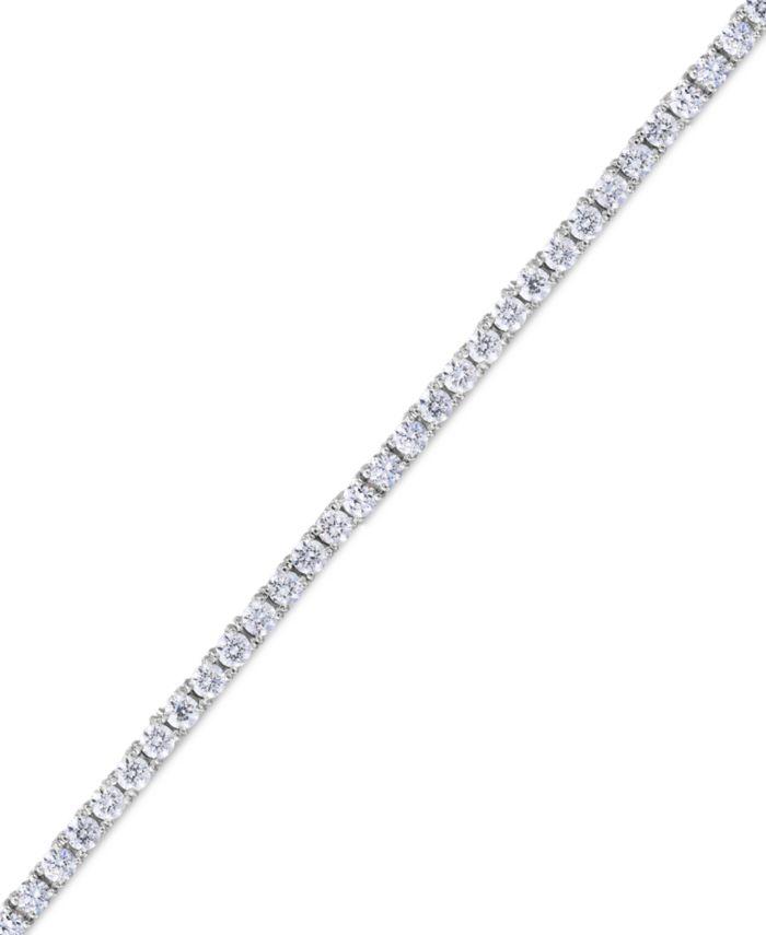 Macy's Cubic Zirconia Line Tennis Bracelet in Fine Silver Plate & Reviews - Bracelets - Jewelry & Watches - Macy's
