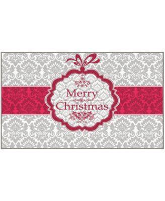 Christmas Damask Accent Rug, 24