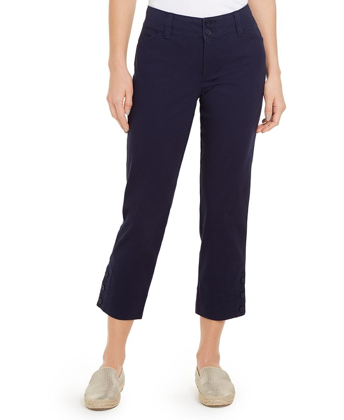 Charter Club - Button-Cuff Tummy Control Capri Pants