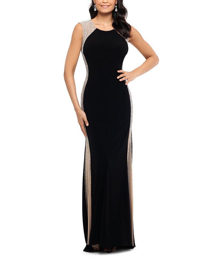 Xscape Rhinestone Illusion Gown Reviews Dresses Women Macy S
