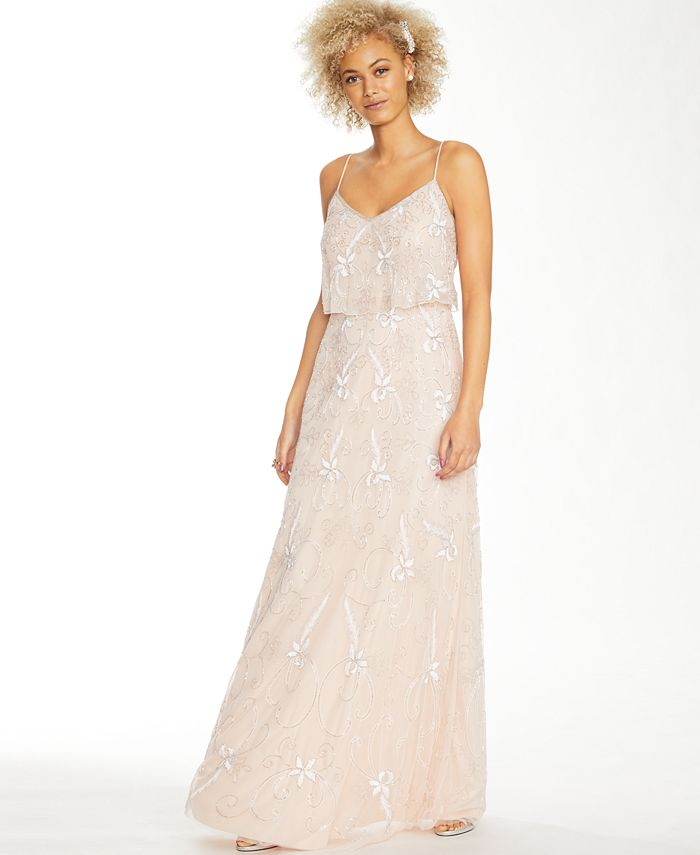 Adrianna Papell - Beaded Embroidered Gown