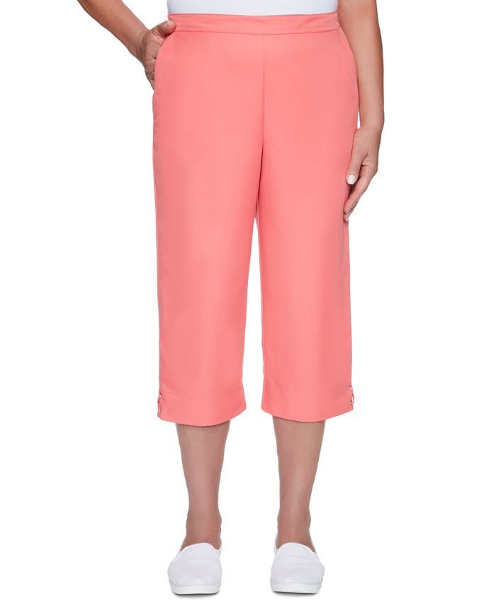 Alfred Dunner - Miami Beach Cropped Pull-On Pants