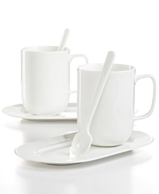Hotel Collection Dinnerware, Bone China 6-Piece Hot Beverage Set