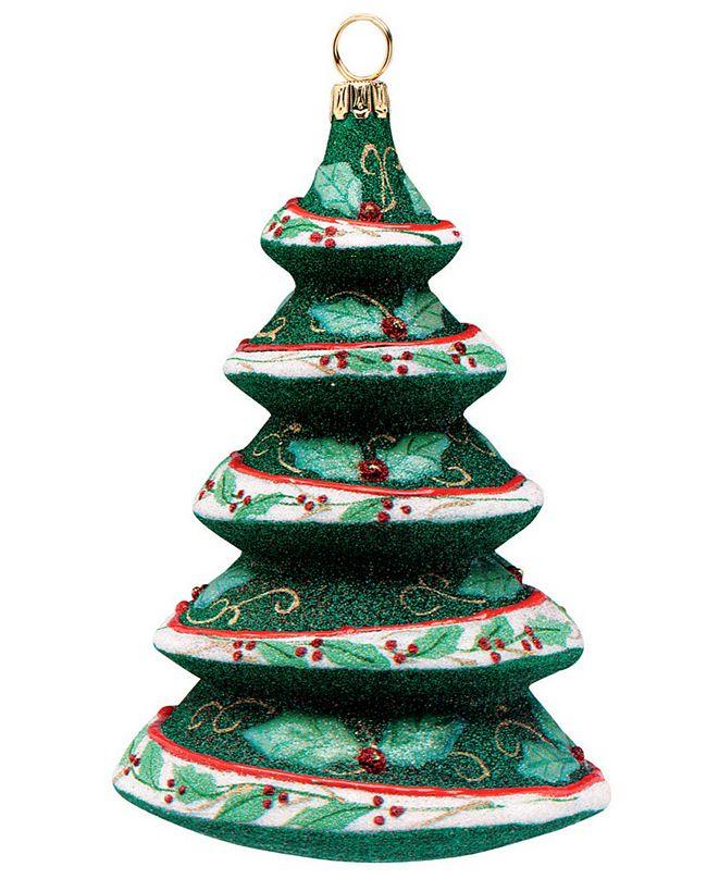 Joy to the World Glitterazzi Holly Berry Tree Green