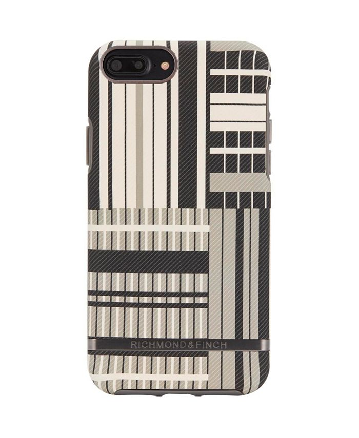 Richmond&Finch - Platinum Stripes Case for iPhone 6/6s PLUS, 7 PLUS and 8 PLUS