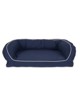 Orthopedic Classic Canvas Bolster Bed, Contrast Cording