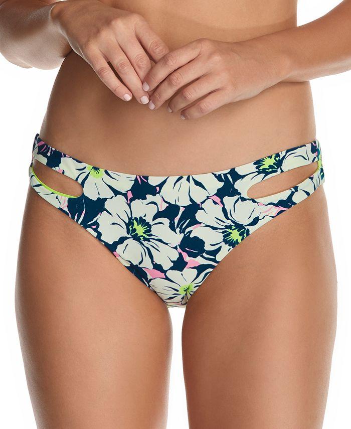 Raisins - Juniors' In Bloom Weekend Cutout Bikini Bottoms