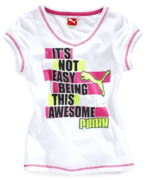 Puma Kids TShirt Girls Awesome Puma Tee