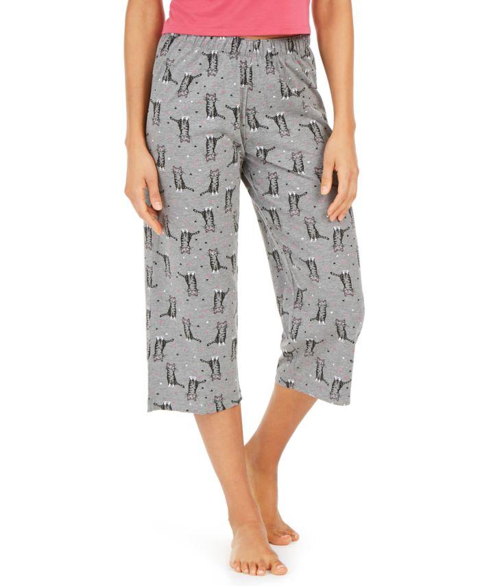 Hue Cotton Temp Tech Cat-Print Capri Pajama Pants & Reviews - Bras, Panties & Lingerie - Women - Macy's