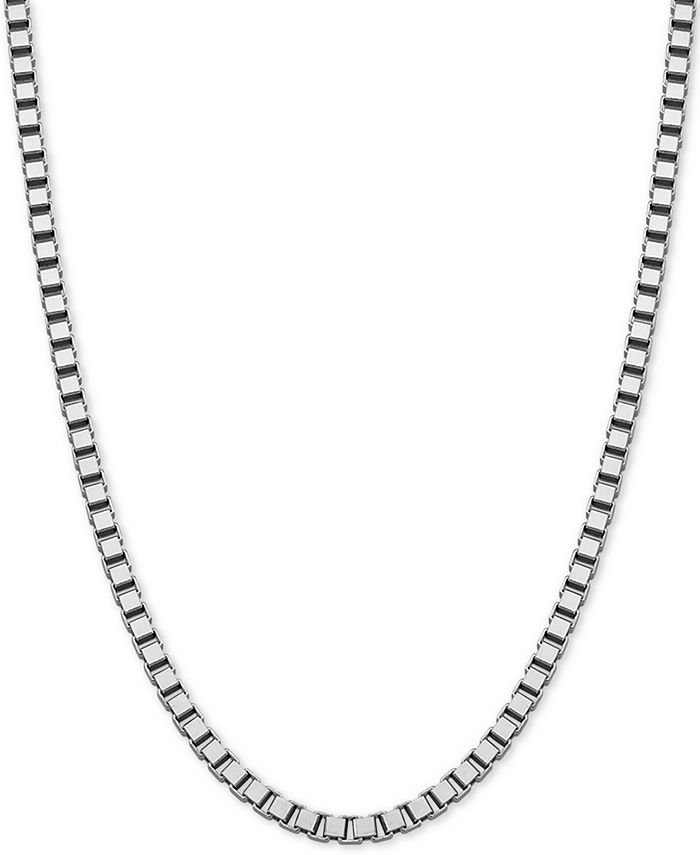 """Giani Bernini - Box Link 20"""" Chain Necklace in Sterling Silver"""