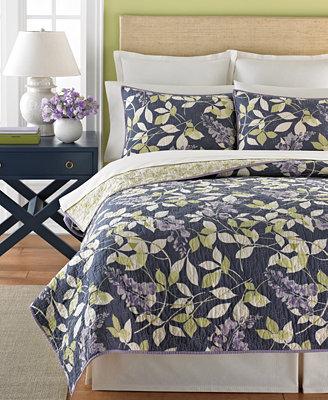 Martha stewart collection wisteria garden quilts quilts amp bedspreads