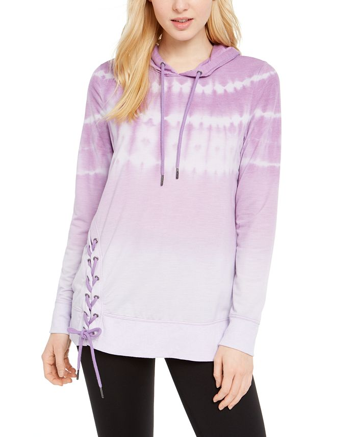 Ideology - Tie-Dyed Side-Lace Hoodie