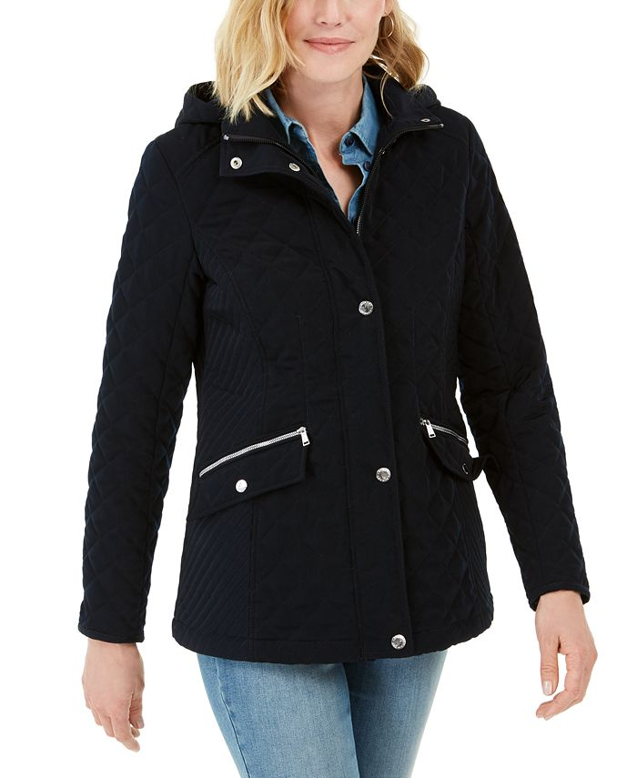 Laundry by Shelli Segal - Hooded Quilted Jacket