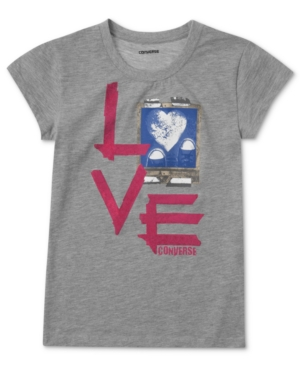 Converse Kids TShirt Girls Love Graphic Tee