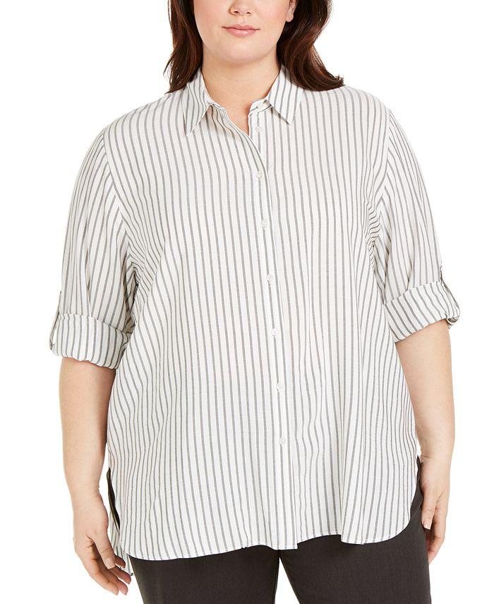 Calvin Klein - Plus Size Striped Tunic