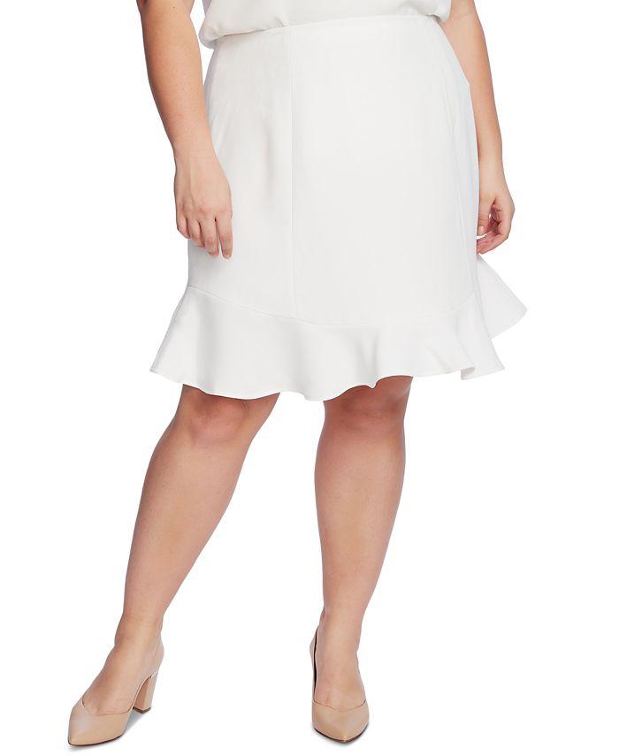 CeCe - Plus Size A-Line Flounce-Hem Skirt