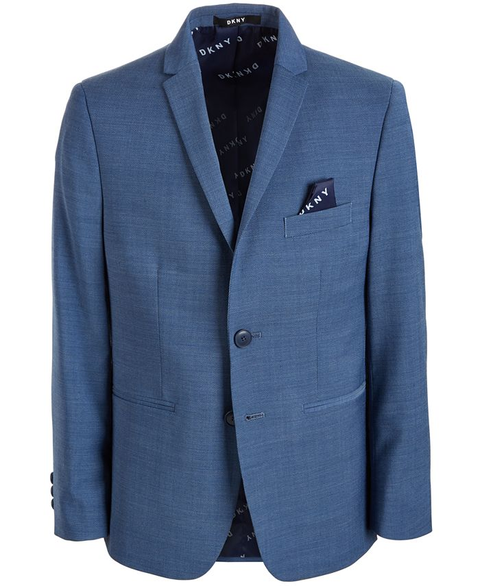 DKNY - Solid Blue Suit Jacket, Big Boys
