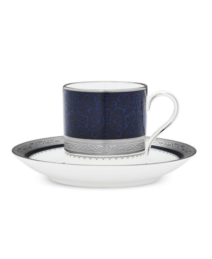 Noritake - Odessa Cobalt Platinum After Dinner Cup & Saucer