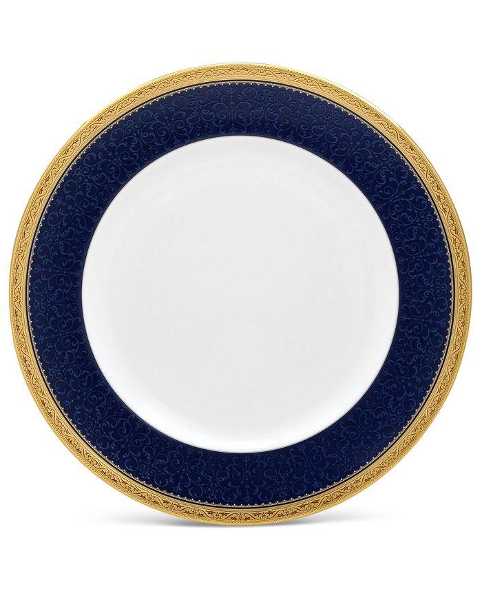 "Noritake - Odessa Cobalt Gold Dinner Plate, 10-1/2"""