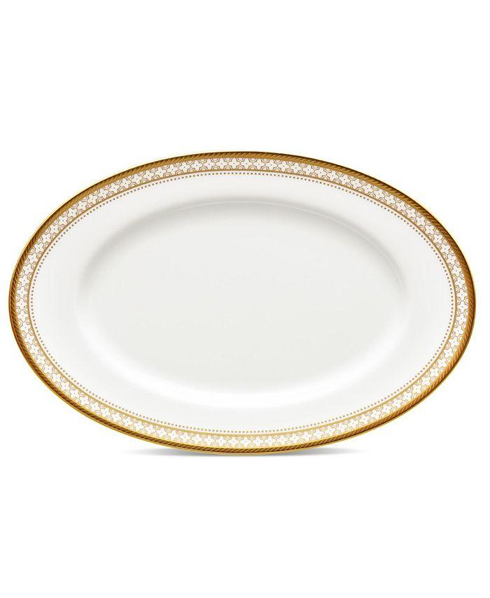 "Noritake - Trefolio Gold Butter/Relish Tray, 8-3/4"""