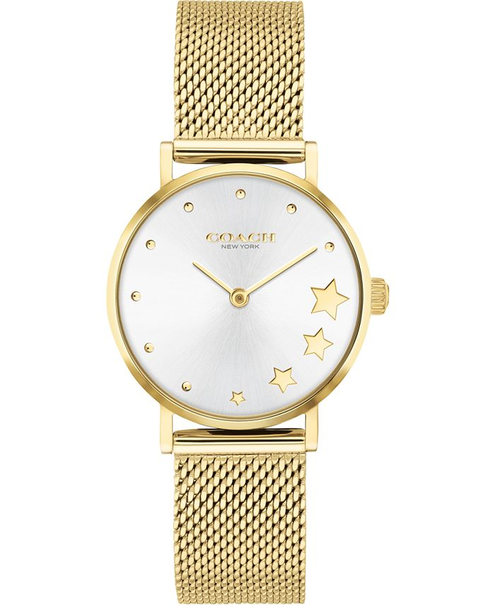COACH - Women's Perry Gold-Tone Stainless Steel Bracelet Watch 28mm
