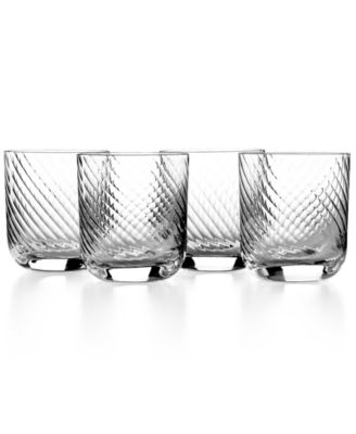CLOSEOUT! The Cellar Glassware, Set of 4 Premium Flourish Double Old Fashioned Glasses