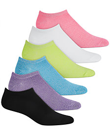 HUE® 6 Pack Super-Soft Liner Socks