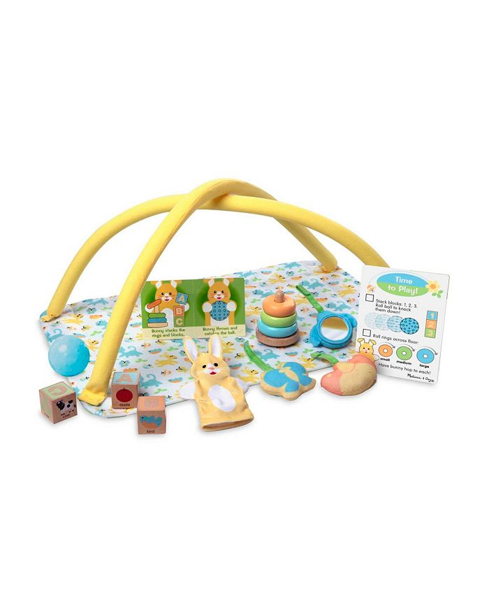Melissa and Doug - Mine to Love Toy Time Play Set for Dolls with Activity Gym, Stacker, Blocks, More 16 pcs