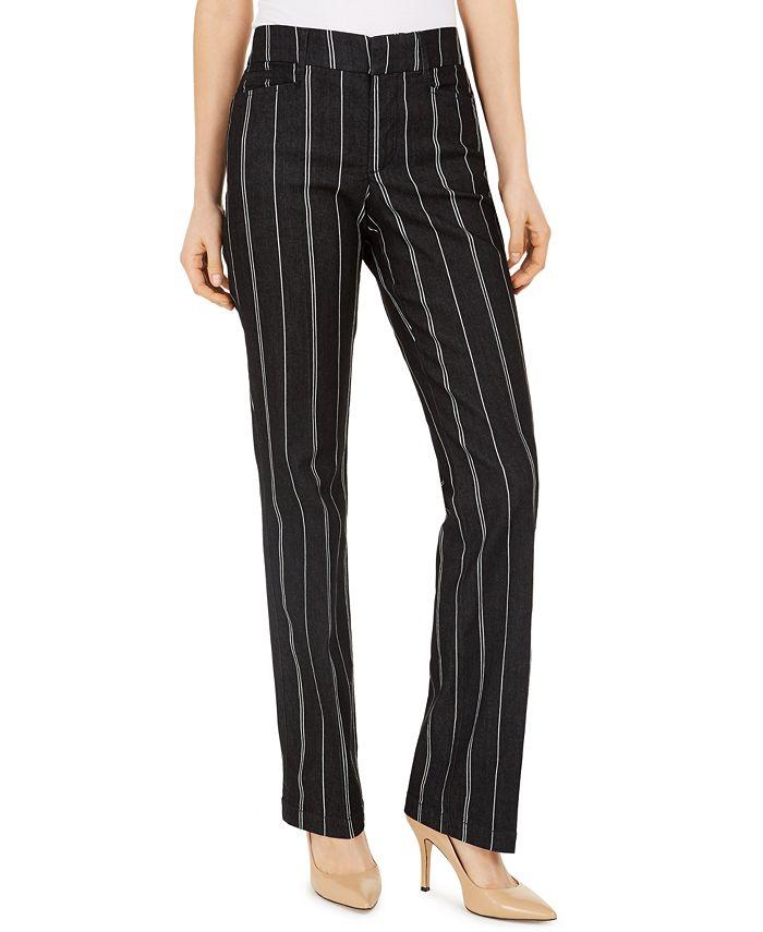 Charter Club - Denim Pinstriped Trousers
