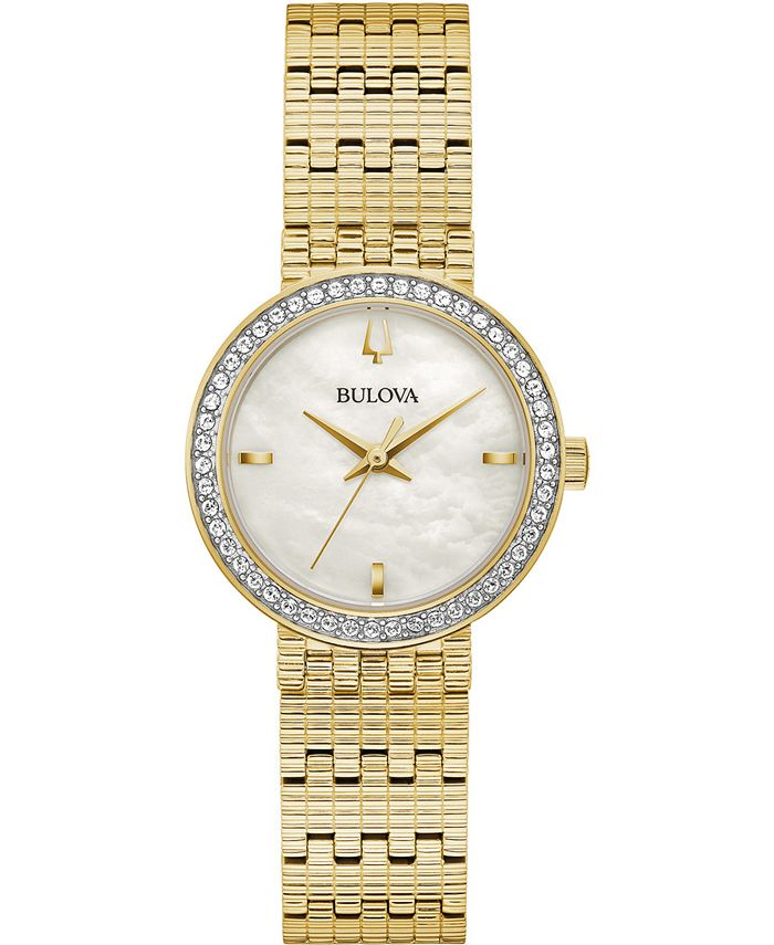 Bulova - Women's Phantom Gold-Tone Stainless Steel Bracelet Watch 28mm