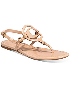 COACH Women's Jeri Leather Sandals
