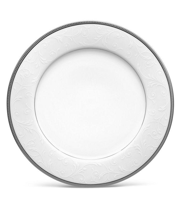 "Noritake - Regina Platinum Dinner Plate, 10-1/2"""