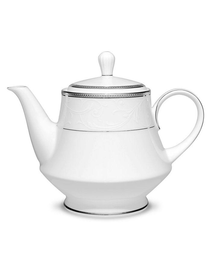 Noritake - Regina Platinum Tea Pot, 38 Oz.