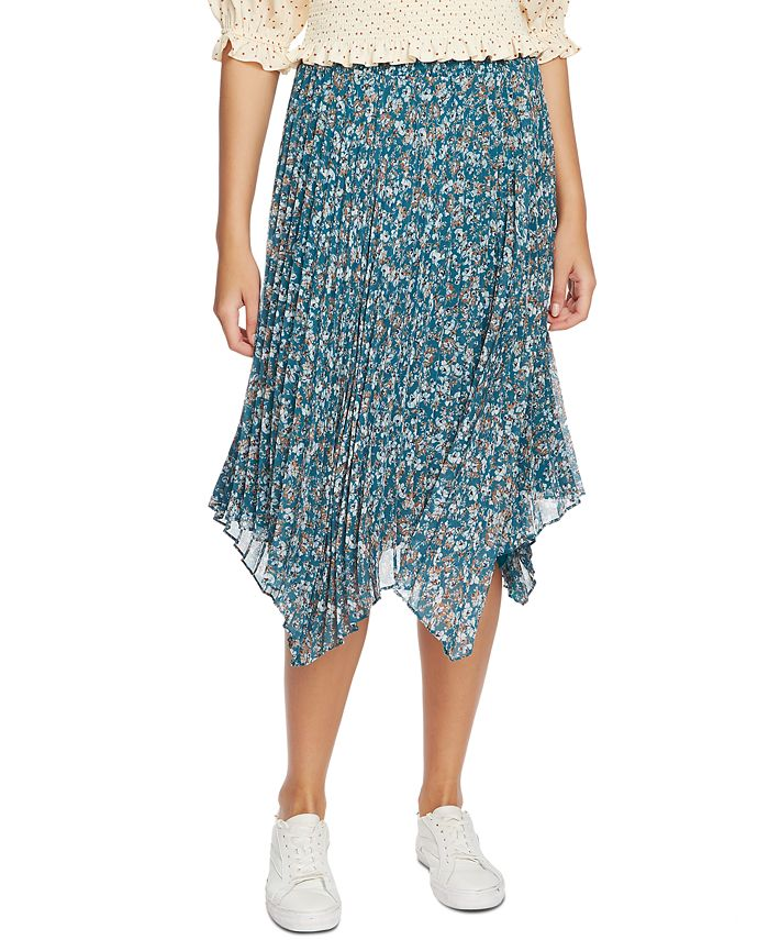1.STATE - Woodland Floral Midi Skirt
