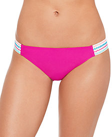 Salt + Cove Juniors' Solid Banded Hipster Bikini Bottoms, Created for Macy's