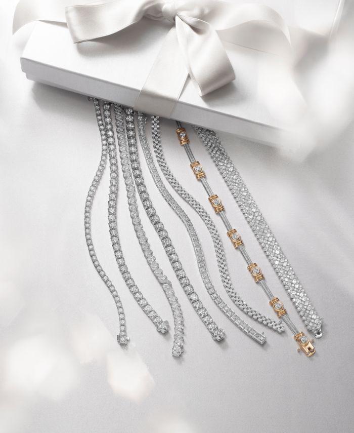 Macy's Diamond Bracelet in 14k White Gold (3 ct. t.w.) & Reviews - Bracelets - Jewelry & Watches - Macy's