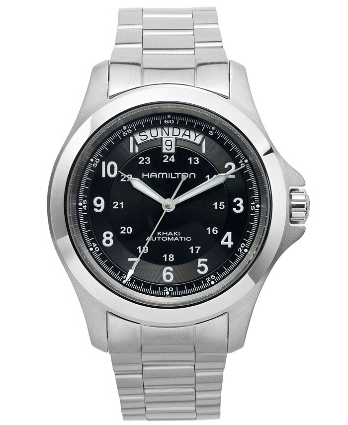 Hamilton - Watch, Men's Swiss Automatic Khaki King Stainless Steel Bracelet 40mm H64455133