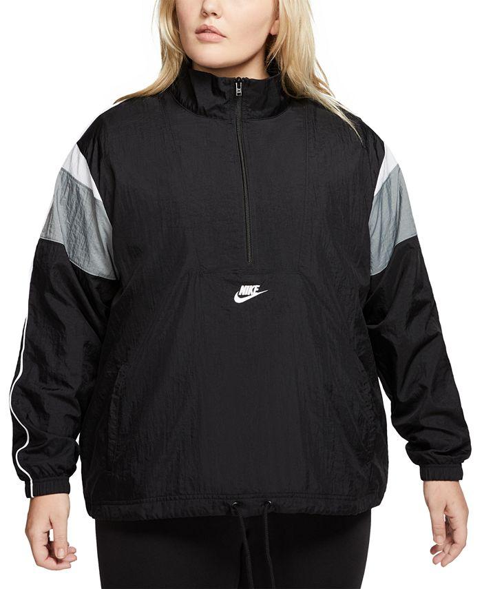 Nike - Plus Size Heritage Half-Zip Active Jacket